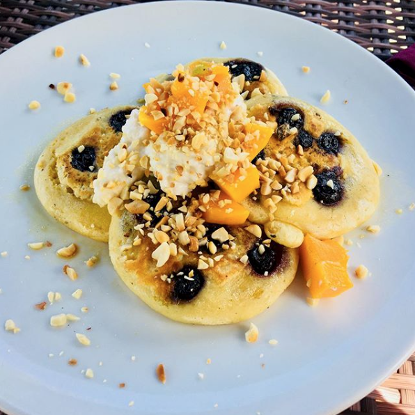 @such.a.jeeb - Blueberry Mango Pancakes @desaseni_avillageresort are by far the best pancakes I've ever had!