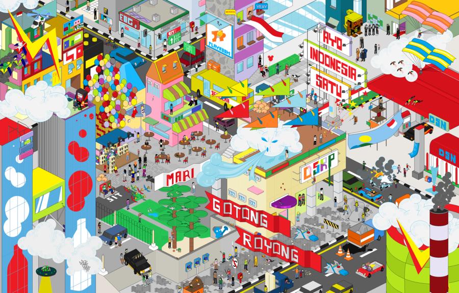 880+ Gambar Animasi Gotong Royong Membangun Rumah Gratis Terbaru